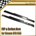 Carro-styling Para Nissan GTR R35 Nismo Estilo Fibra De Carbono Side Skirt