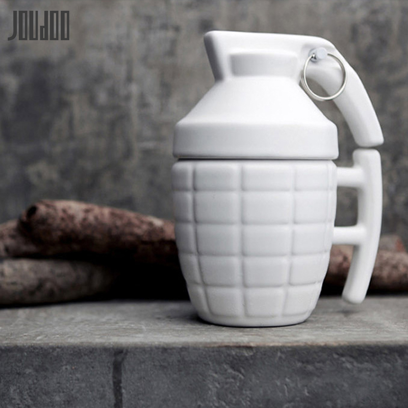 JOUDOO New Bomb Shaped Ceramic Water Cup Creative Solid Simulation Bottles Office Home Coffee Milk Mugs 35