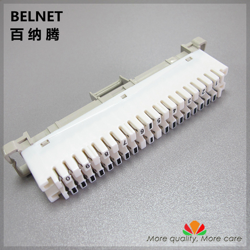 BELNET 10 pairs telephone module spring snaps into wiring module Krone Article Voice line Silver-plated copper terminal block