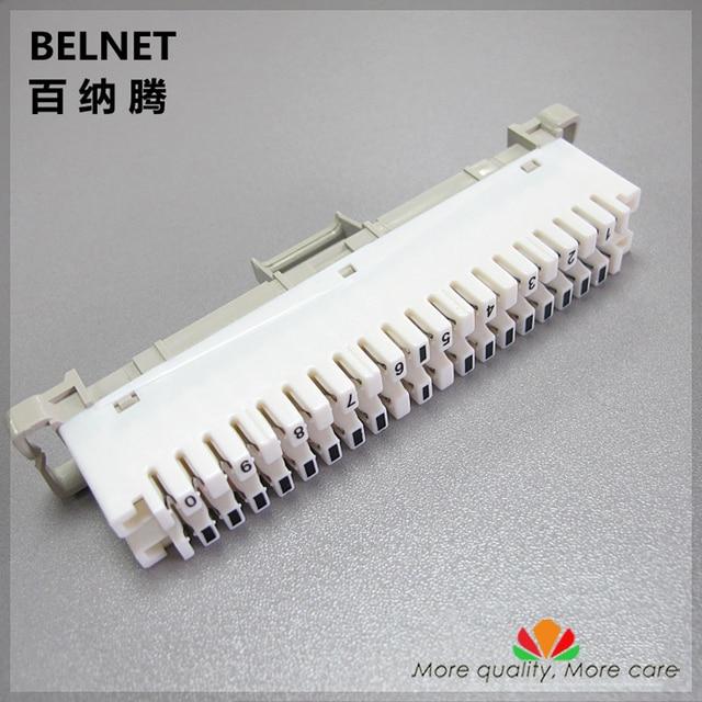 BELNET 10 pairs telephone module spring snaps into wiring module