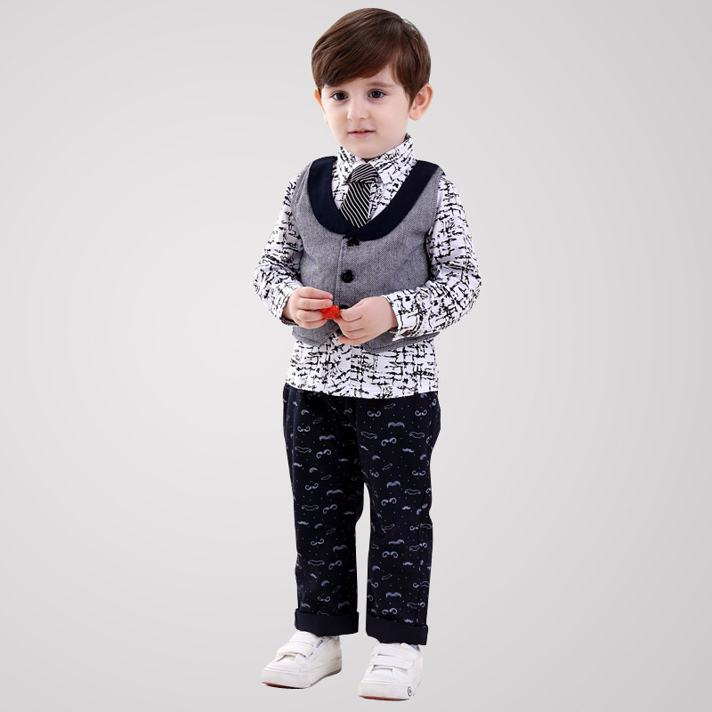 kids cothing set <font><b>spiderman</b></font> baby boy clothes for <font><b>children</b></font> boys suit with vest kid disfraces gentleman <font><b>3</b></font> pcs set high <font><b>quality</b></font>