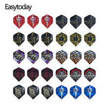 Easytoday 30Pcs/sets Professional Accessories Darts Flights Set Ten Colors High Quality Plastic Dart Wing Cool