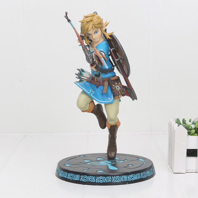 The Legend of Zelda Breath of the Wild Link 10'' PVC Painted Statue Action Figure Model Toy