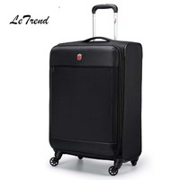 Letrend Black Men Rolling Luggage Spinner High grade Wheel Suitcase Red Women Trolley 20 inch Carry On password Travel Bag