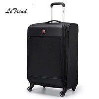 Letrend Negro hombres Rolling equipaje spinner de alta calidad maleta rojo mujeres carro 20 pulgadas equipaje contraseña viajes bolsa