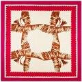 100cm*100cm Women 2016 New Fashion Twill Silk Geometric Grid Printed Square Scarf Hot Sale Femal Wrap
