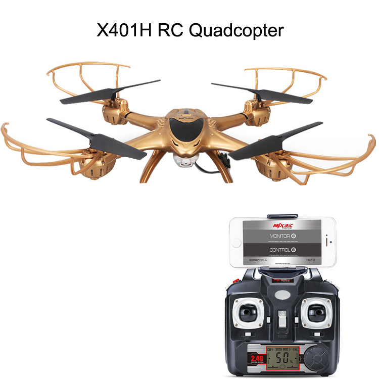 MJXR/C X401H 2.4G 6-Axis WIFI FPV Real Time Video RC Drone Quadcopter with HD Camera Helicopter,Auto Hover,Headless Mode jjr c jjrc h43wh h43 selfie elfie wifi fpv with hd camera altitude hold headless mode foldable arm rc quadcopter drone h37 mini