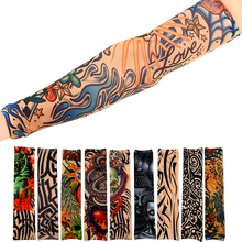 1pcs Cool Temporary Pattern Waterproof Tattoo Sleeves Anti Sun Temporary Tattoo Sleeves Tatouage Temporaire