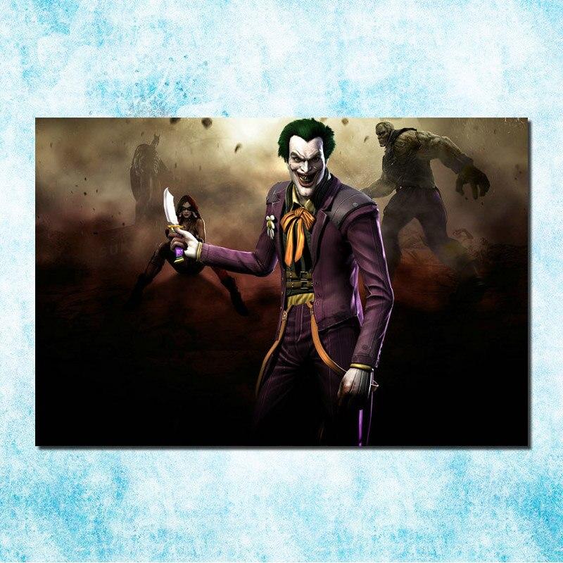 Joker Batman Arkham City Origin Game Art Silk Poster 013