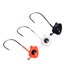 Fishing hook 5pcs/lot 1.3g 2cm Lead Head Hook Jig Hooks for Soft Bait Worm