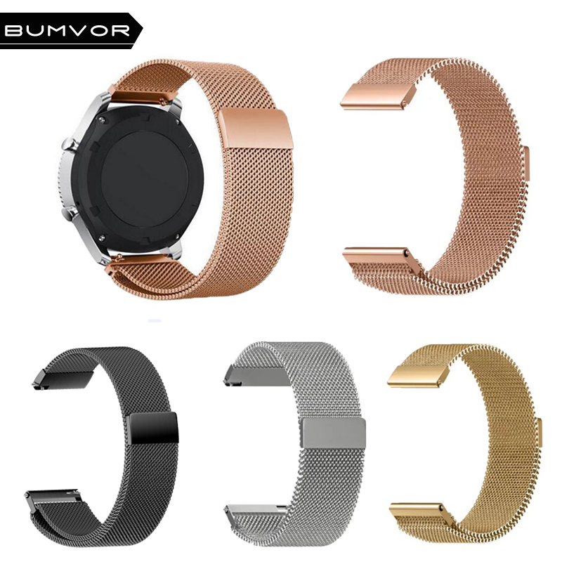 все цены на Watch Bands for Samsung Gear S3 For huami amazfit pace Classic Frontier 22mm 20mm Milanese Watch Strap gear sport s2 Watch Band