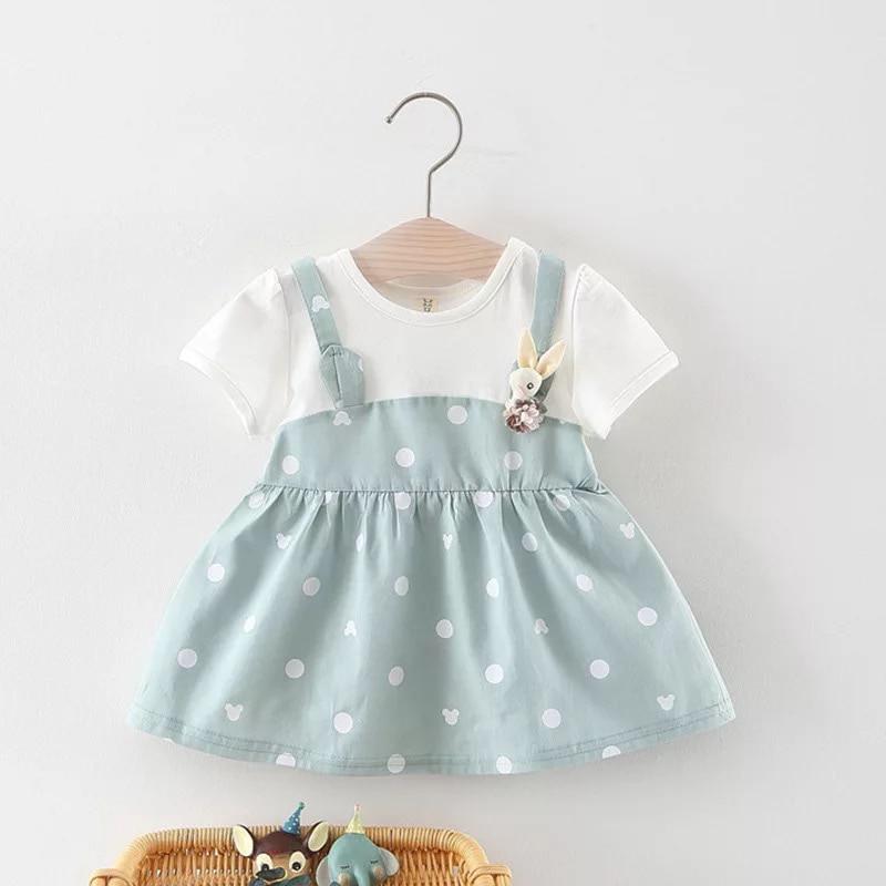 BNWIGE New Summer Baby Girl Dress Party Birthday Dress Cotton Dot Print Girl Clothes Baptism Vestido Princess Casual Dress
