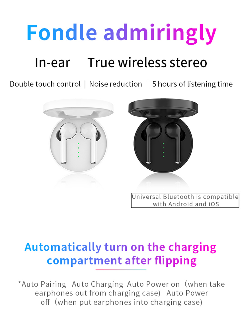 TW40 Wireless Bluetooth 5 0 Earphones Super Bass 6D Stereo Bluetooth Headset Handsfree Call Sport Dual Earbuds Built in HD Mic in Bluetooth Earphones Headphones from Consumer Electronics