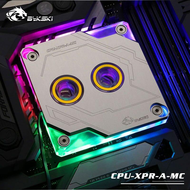Bykski CPU XPR A MC V2 RBW RGB a mené le bloc de refroidissement par eau de CPU pour Intel 115x2011 2066 argent-in Ventilateurs et refroidissement from Ordinateur et bureautique on AliExpress - 11.11_Double 11_Singles' Day 1