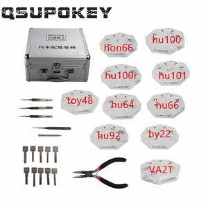 QSUPOKEY Original honesto 10 en 1 Herramienta automática para cerrajero moldes de llave de coche para perfil clave duplicar HU66 HU92 HY22 HU101 HU100 HON6