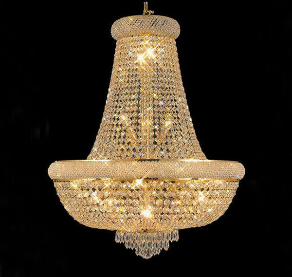 Phube Lighting French Empire Gold Crystal Chandelier