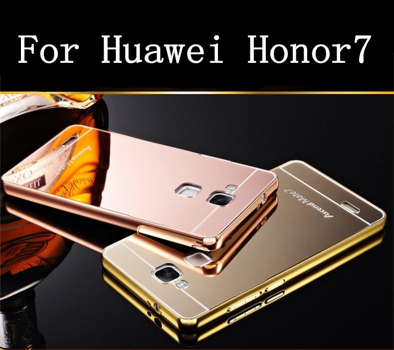 Para huawei honor 7/honor 7 premium case lujo ultrafino del metal marco de alumi