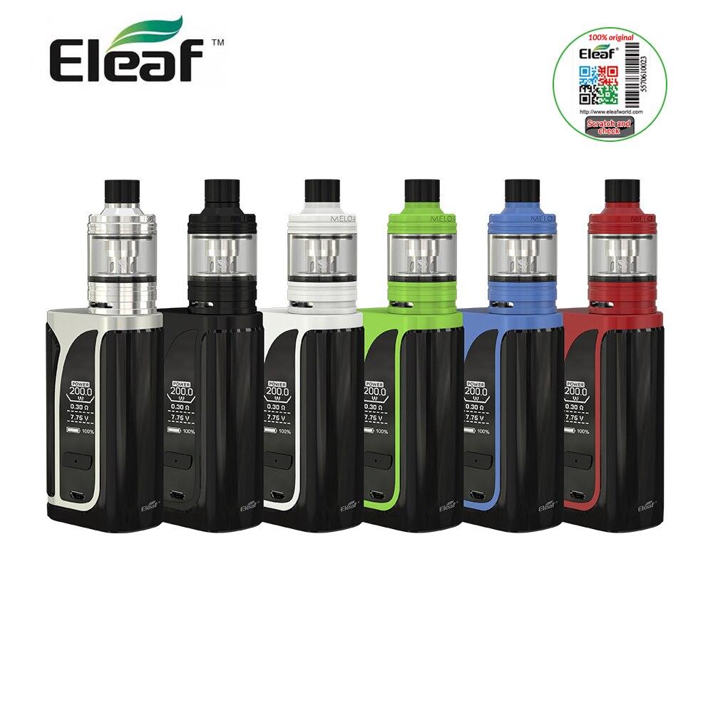 IN MAGAZZINO Originale Eleaf iKuu I200 Kit con Melo 4 Atomizzatore 200 W Mod Box 4.5 ML Serbatoio Capacita di 0.96 pollice schermo EC2 Testa e-Cigarette