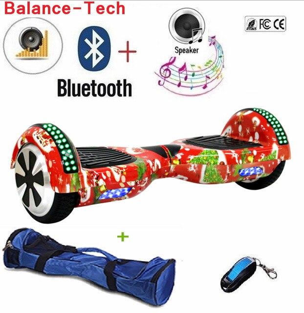 6.5 Pouce Hoverboard Manillar Électrique Scooters Auto Équilibrage Scooter Gyroscope Deux Roues Par-Dessus Bord LED Lumière + Bluetooth