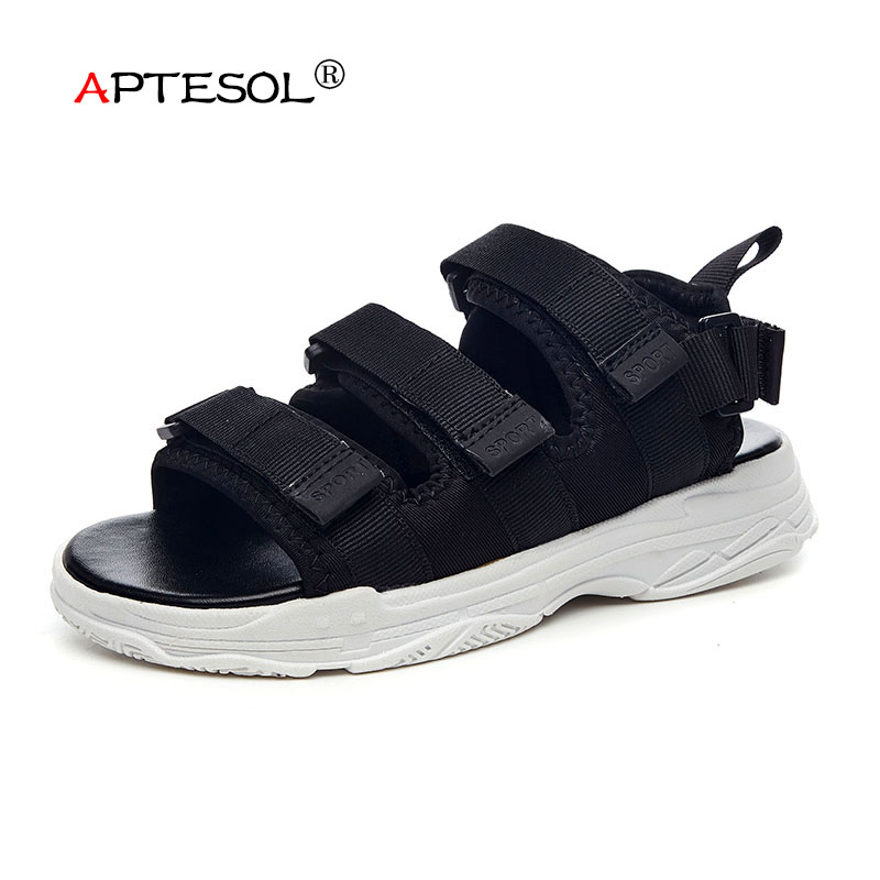 APTESOL2018 New Fashion Mens Casual Beach Sandals Leisure Outdoor Men Shoes Non-Slip Rubber sapato masculino sandalias hombre