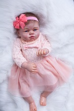 22 inch Blue Eyes Pink Princess Lifelike Realistic Baby Doll Tall Dreams Gift Set Ensemble Weighted Baby Doll for Ages 3+