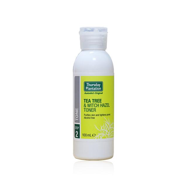 Jueves Plantación de Árbol de Té y agua de Hamamelis Toner, elimina el exceso de aceite y las bacterias de la piel, cierra los poros mejora el acné