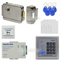 DIYSECUR 125KHz Rfid Access Control System Full Kit Set + Electronic Door Lock + Power Supply + Exit Button K2000