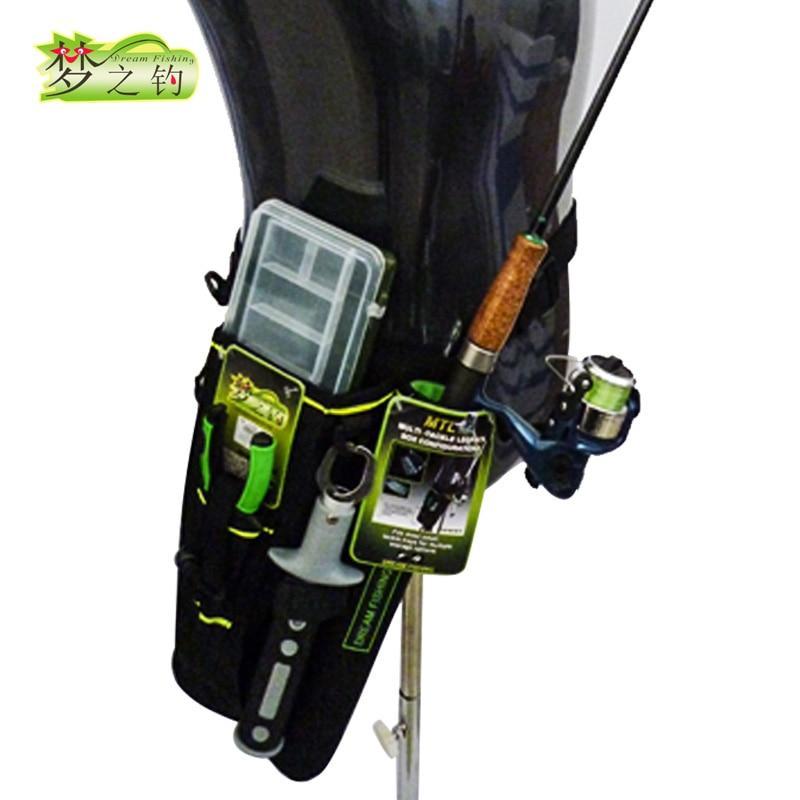 Dream Fishing 19*6*33cm Fishing Bag+Lure Box Waist Leg Bag 1200D Nylon Army Green Outdoor Fishing Rod Tools Storage Case Blosa|Fishing Bags| |  - title=