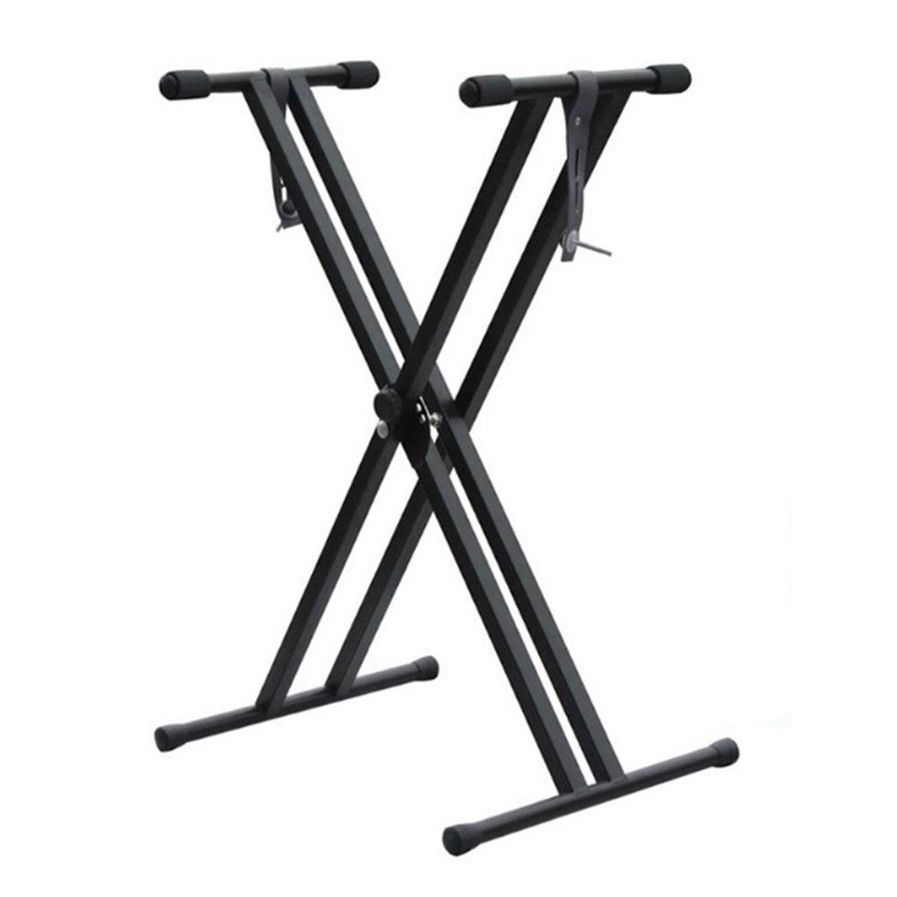 54 61 76 88 Key Electronic Piano Stand Adjustable X-type Double Tube Iron Rack Universal Keyboard Instrument Stand Accessories