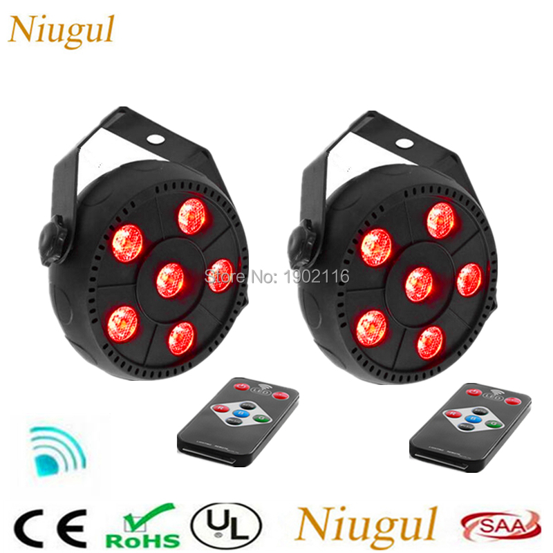 2pcs/lot Wireless Remote Control 6X3W RGB 3in1 LED Par Light Mini LED Flash Magic Effect Uplight Stage Light For DJ Disco Party ...