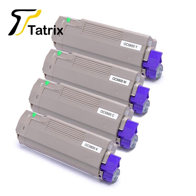 4 Colors C5800/C5900 BK/C/M/Y Compatible Toner Cartridge For OKI C5800/5900 Printer compatible dell 5100cn toner cartridge bk m c y 4pcs lot