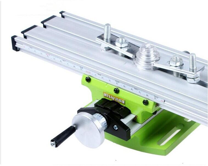 Mini Multifunctional Cross Working Table/ slide table support For Drilling Milling Machine Bench drill stent Tools 1PC