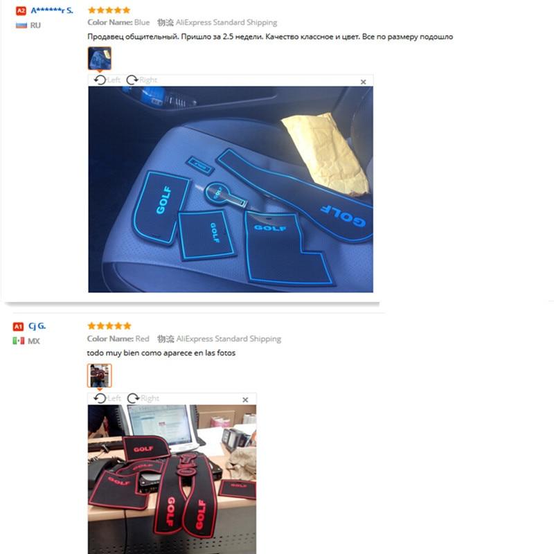 9 unids antideslizante antideslizante taza de goma pegatina puerta - Accesorios de interior de coche - foto 5