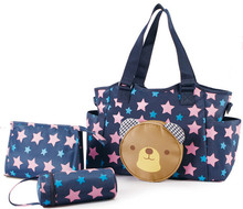 3pcs/set Multifunctional Mummy Bag Maternity Handbag Baby Diaper Bags baby Tote Organizer bolsas de bebe maternidade+bottle bag