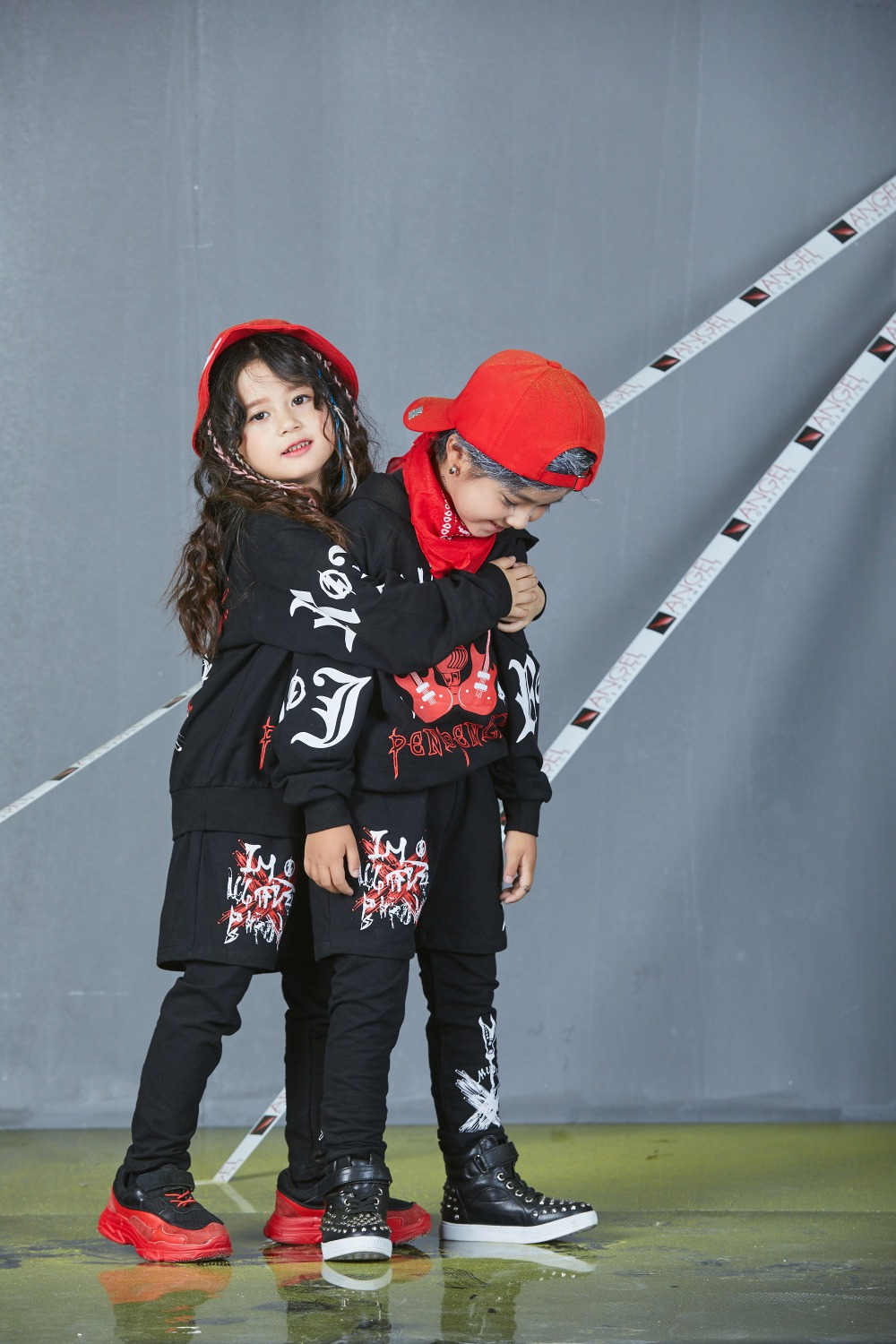 Autumn Spring Kids Street Dance Clothes Sets Fashion Hip Hop Clothing 2019 Brand High Quality Sport Suit for Teenage Boys Girl (22) -