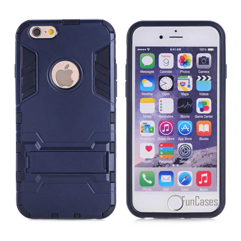 Dla Apple Iphone 5C przypadku podwójna warstwa hybrydowy wytrzymały pancerz twardy PC + TPU 2 w 1, odporna na wstrząsy, z etui z podpórką etui na iphone5C