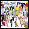 Hot Unisex Adult Franela Pijamas Adultos de Dibujos Animados Lindo Animal Pijama Homewear ropa de Dormir Encapuchado Pikachu/Puntada/Unicornio/tigre