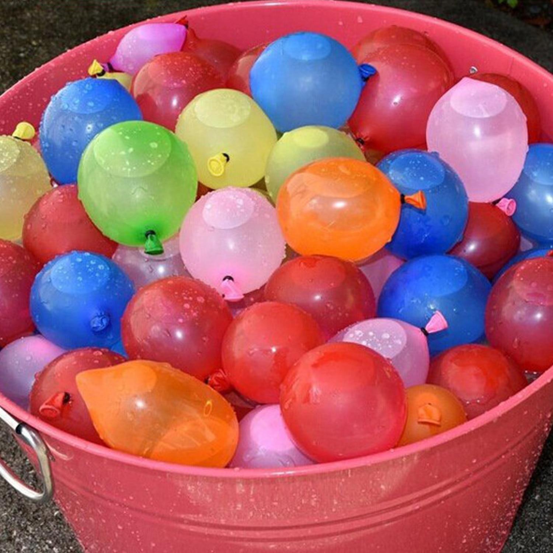 1pack Of 120pcs Diy Summer Magic Bomb Water Balloons Bombs Ball   120pcs Rubber Bands Bunch   1pcs Quick Easy Refill Tool #5