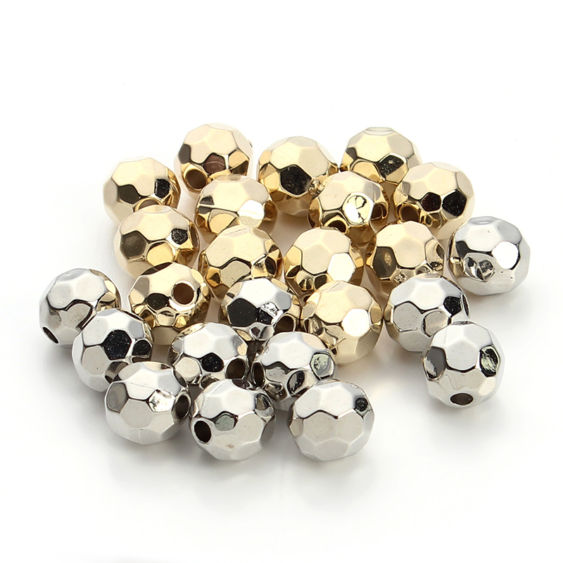 100pcs Gold Rhodium 6 8 10mm Plastic Faceted Round Spacer Beads Handmade Czech Seed Beads Charm For Diy Jewelry Making F3295 Beads Charms Czech Seed Beadsseed Beads Aliexpress
