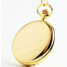 Cindiry Vintage 4.5cm Size Silver Polish Quartz Men Pocket Watch Pendant Necklace Relogio Quartz Watch Clock Gift P0.5