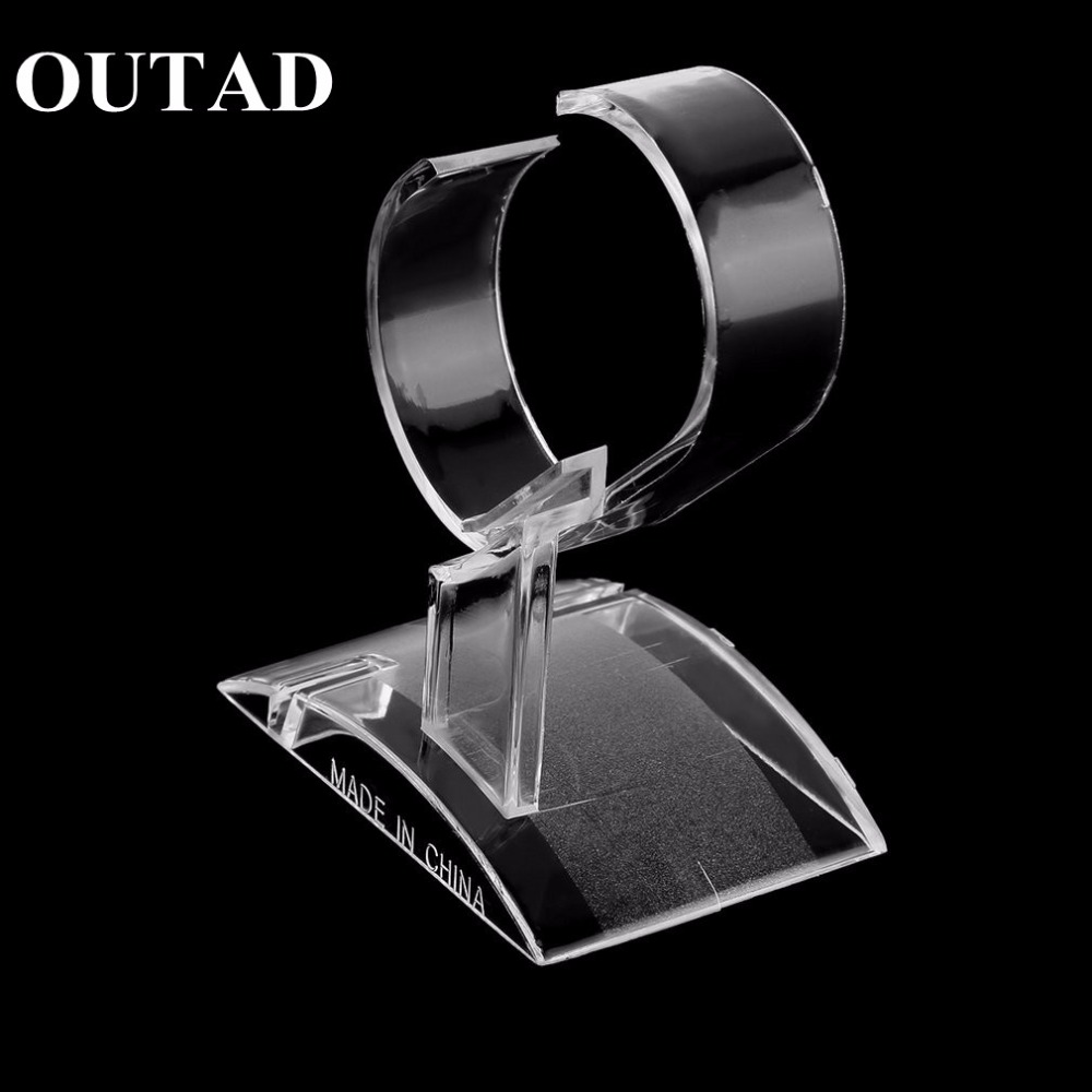 Clear Acrylic Watch Display Holder Stand Rack Showcase Tool Transparent Wristwatch Lightweight Stand Case Winder | Watch Boxes