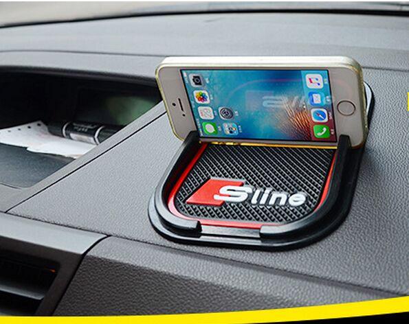 Бесплатная доставка Силиконовые силикагель автомобилей Нескользящие коврик телефона держатель телефона для <font><b>Audi</b></font> A1 A3 A4 A5 <font><b>A6</b></font> A8 Q3 Q5 Q7 TT с Sline