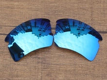 Polycarbonate-Ice Blue Mirror Replacement Lenses For Flak 2.0 XL Sunglasses Frame 100% UVA & UVB Protection