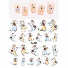 Nail Sticker WATER DECAL SLIDER WEDDING DAY BRIDE BRIDESMAID FLOWER HAND BOUQUETS LUCKY MARRIGE RA001-006 ana seymour lucky bride