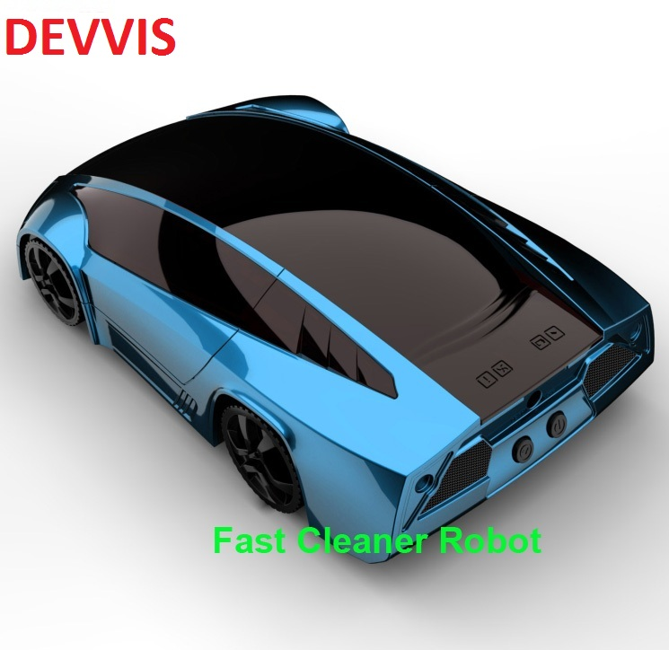 цена Fashion NEW Super Sports Car Cool Design Automatic Robot Vacuum Cleaner With Double USE As Handhold Portable Vacuum Cleaner