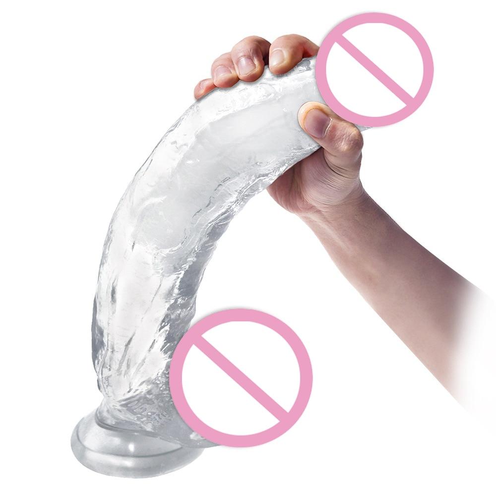 Super kæmpe dildo med sugekop Sexlegetøj til kvindeblød-8668