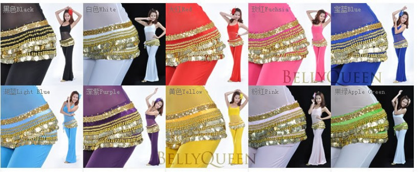 1pcs Resell Special Use For Belly Dancing Dance With 338 Silver/golden  Coins Egypt Style Waist Opp Bagchain Belt