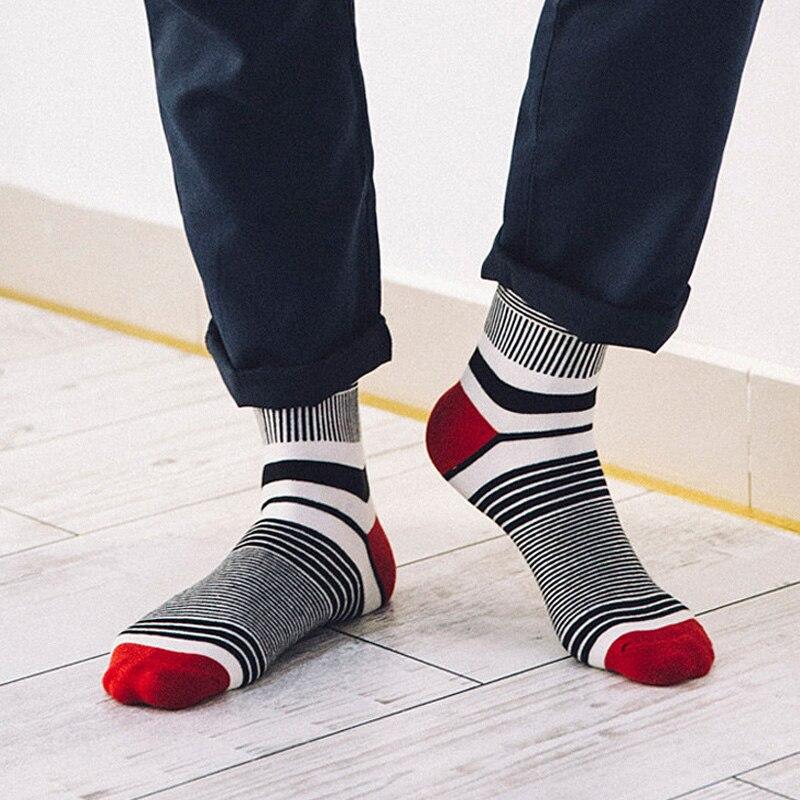 acheter populaire ad34c 1d595 € 2.11  Nouveau Style marque hommes chaussettes pas cher mode coloré rayé  Meias Homens coton chaussette homme Cool hommes heureux chaussettes ...