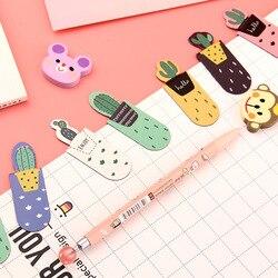 3 unidades/pacote crescente cacto magnético multi-função bookmark papel lápis clipe escola material de escritório escolar papelaria