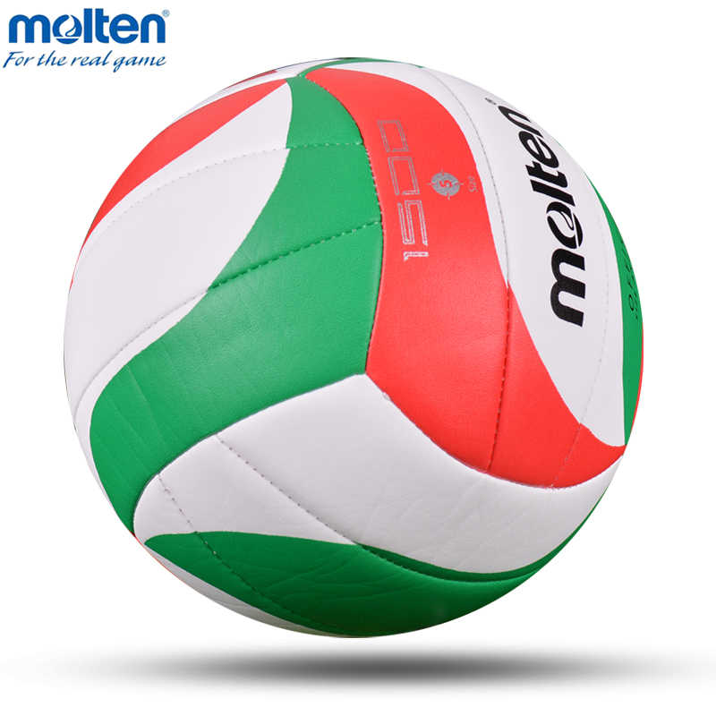 Stopiony oryginalny V5M1500 piłka do siatkówki oficjalny rozmiar 5 siatkówka miękki materiał PU mecz szkolenia Teenages voleyball voleibol